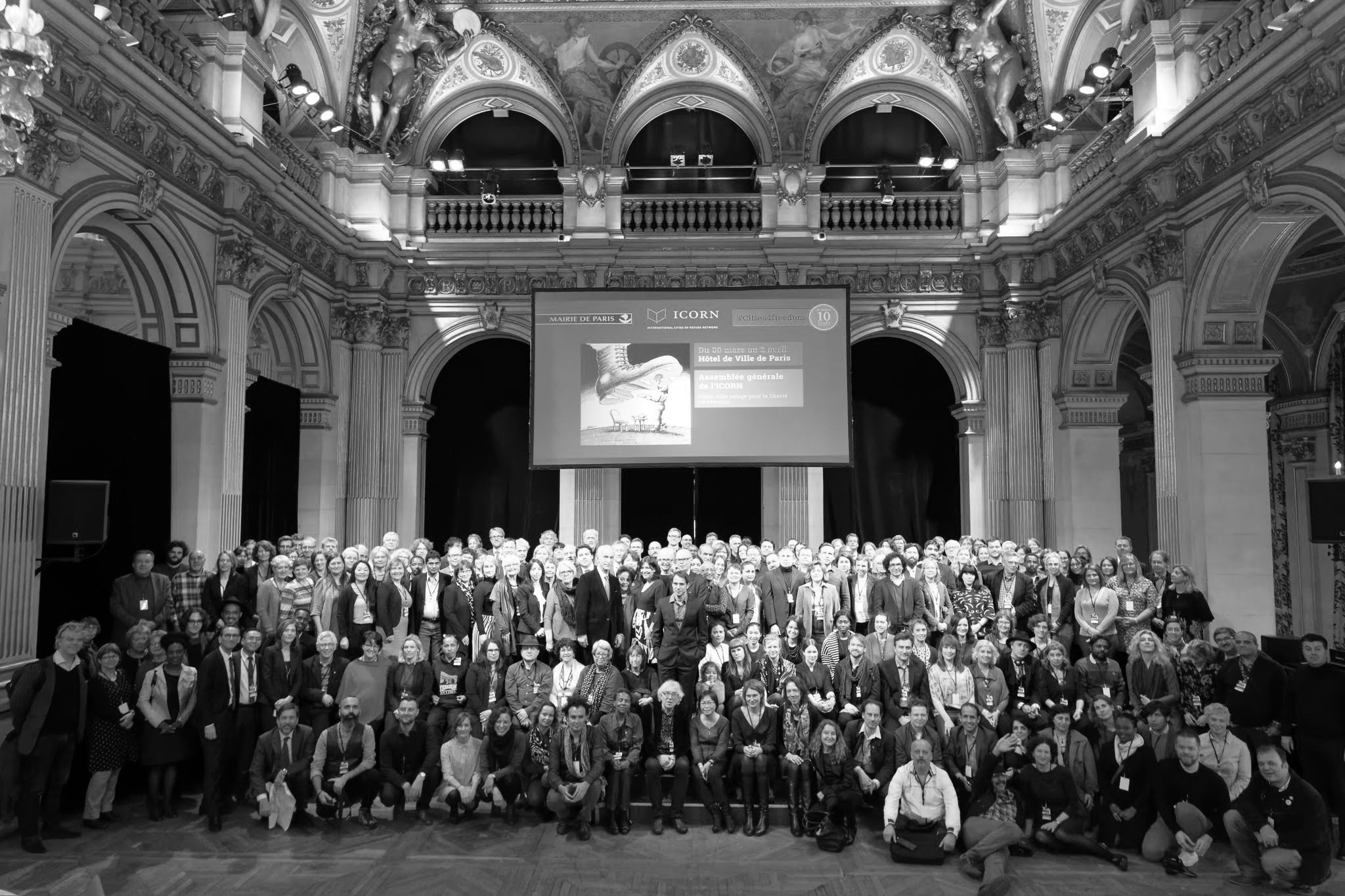 The ICORN 10 years anniversary and General Assembly in Hôtel de Ville in Paris. Photo.