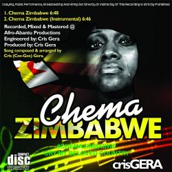 Cover for Chema Zimbabwe by Cris Gera. Photo.
