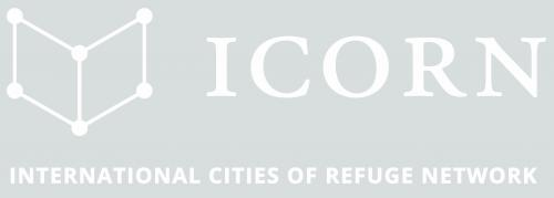 ICORN International Cities of Refuge Network. Logo White. PNG