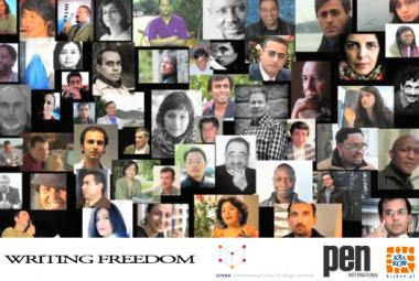 Writing Freedom poster. Photo.