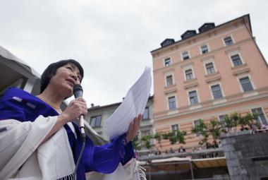 Easterine Kire at River Poetry event in Ljubljana.photo