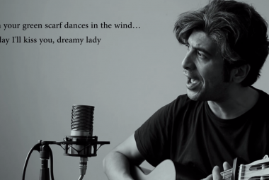 Iranian singer Arya Aramnejad performing his One day I'll kiss you. Photo.