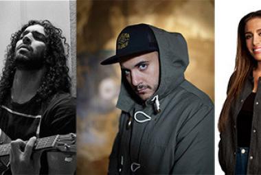 Ramy Essam (photo mynewsdesk.se), Khaled Harara (photo Joakim Roos), Ametist Azordegan (photo Erik by Erik). Photo.