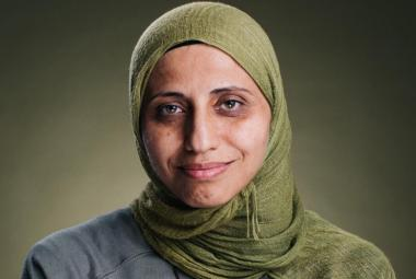 Dareen Tatour, Palestinian Poet and social media activist, ICORN residency in Sweden, awarded the Norwegian Writers* Union Freedom of Expression award for 2019. Photo: Elad Malka. Photo..
