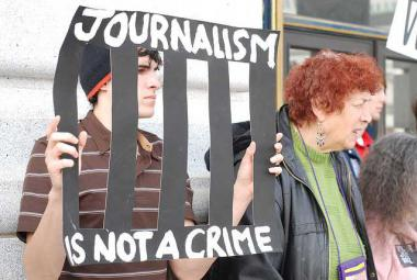 Journalism is not a crime. Photo. Copyright:Steve Rhodes/Attribution-NonCommercial-ShareAlike 2.0 Generic (CC BY-NC-SA 2.0)