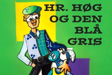 """Hr. Høg og den blå gris"" book cover. Photo"