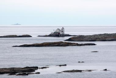 Vestfold lighthouse.Photo.