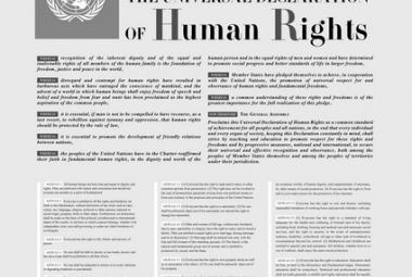 UN Human Rights Declaration 1948. Photo.