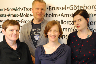 Elisabeth Dyvik, Helge Lunde, Cathrine Helland and Marianne Hovdan. Photo.