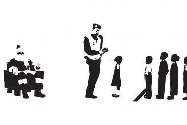 Santa. Cartoon by Khalid Albaih, ICORN residency in Copenhagen.