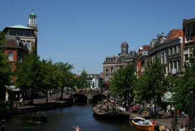 The City of Leiden in the Netherlands Photo.
