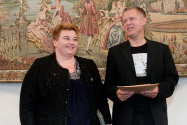 Deputy President in Charge of Culture and Promotion Ms. Magdalena Sroka and ICORN director Helge Lunde.    Print current Article