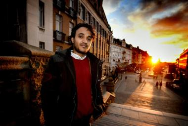 Abduljabbar Alsuhili, actor, screenwriter and director from Yemen is first ICORN writer-in-residence in Helsingborg. Photo: Sven-Erik Svensson. Photo.