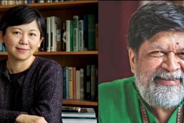 Keynote speakers yiyun Li andd Shahidul Alam at ICORN Network Meeting and PEN International WiPC Conference, Rotterdam 29-31 May 2019. Yiyun Li. Photo by Denise Applewhite, Office of Communications, Princeton University. Shahidul Alam. Photo Courtesy: Rahnuma Ahmed. Photo.