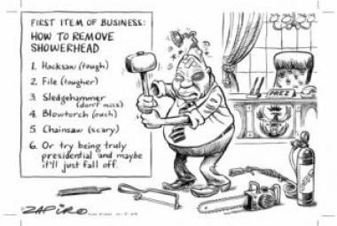 By South African cartoonist Jonathan Shapiro (Zapiro).