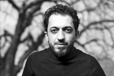 Iraqi poet and performing artist Ali Thareb, ICORN writer in residence in Jönköping, Sweden. © Johan Werner Avby. Photo.
