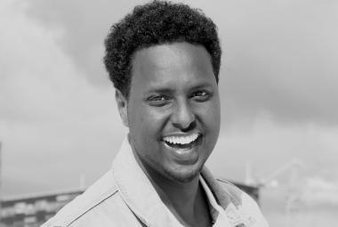 Cartoonist Abduallahi Muhiaddin. Photo.