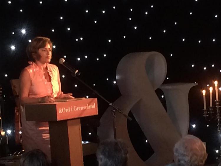 Anzhelina Polonskaya receives Words on Borders Freedom Prize 1 September 2016. Photo by Ord i Grenseland. Photo.