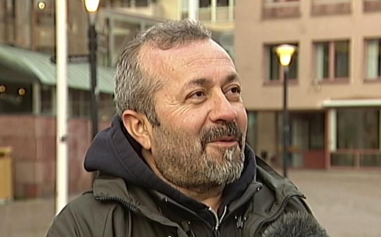 Fikret Atay, interview with SVT 24 November 2017. Photo.