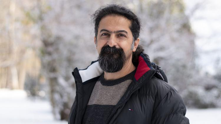 Kurdish artist Seywan Saeedia is welcomed in Gävle City of Refuge. Photo: By Gävle stad. Photo.