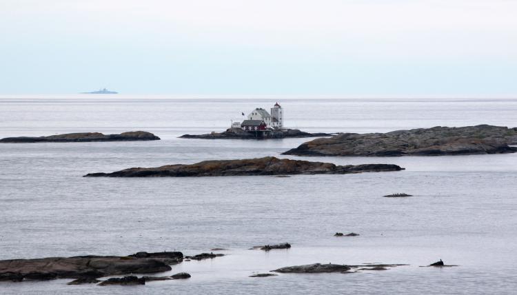 Vestfold lighthouse.Photo.