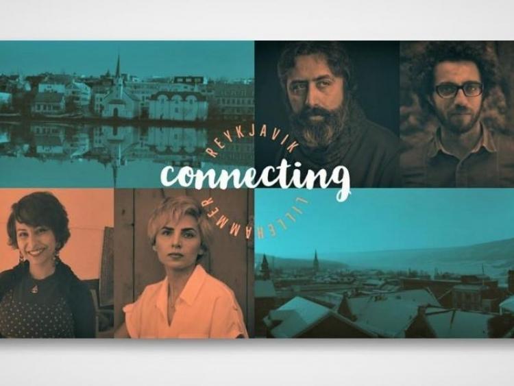 ICORN writers Mazen Maarouf, Mehdi Mousavi, Fatemeh Ekhtesari and Amani AboShabana, in Reykjavik and Lillehammer. Photo.