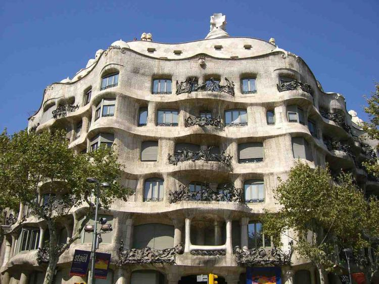 La Pedrera by Gaudí, Barcelona. Photo.