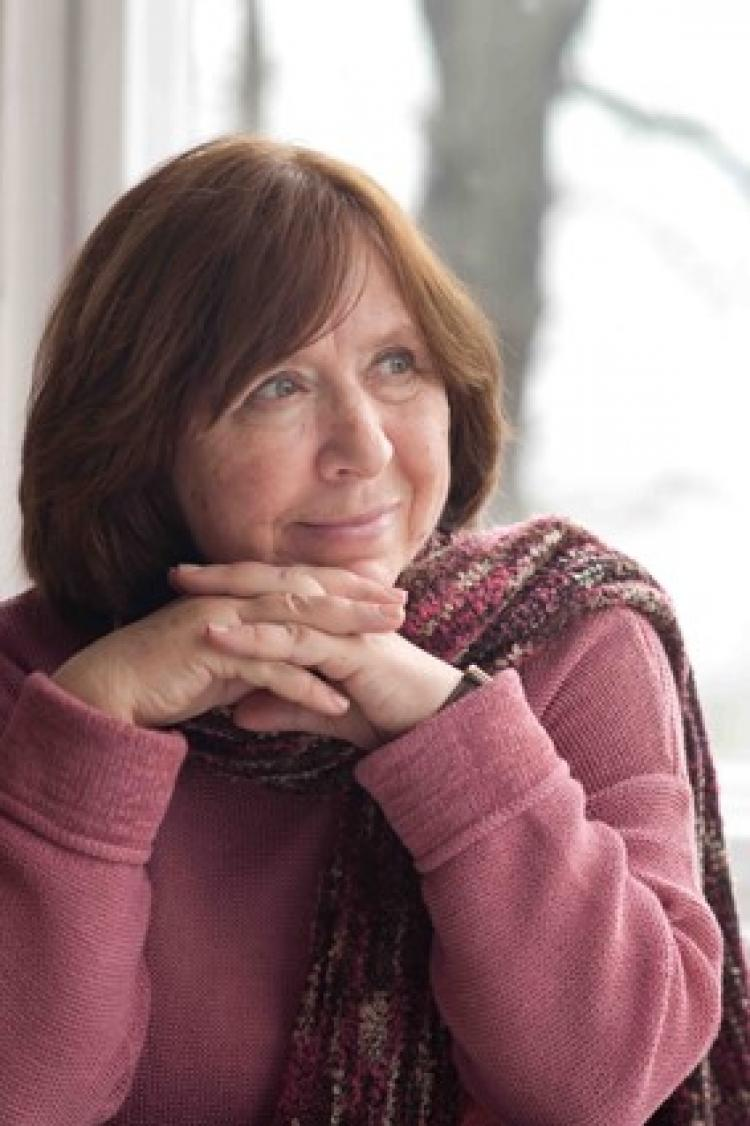 Svetlana Alexievich. Photo: © Marion Stalens 2016. Photo.