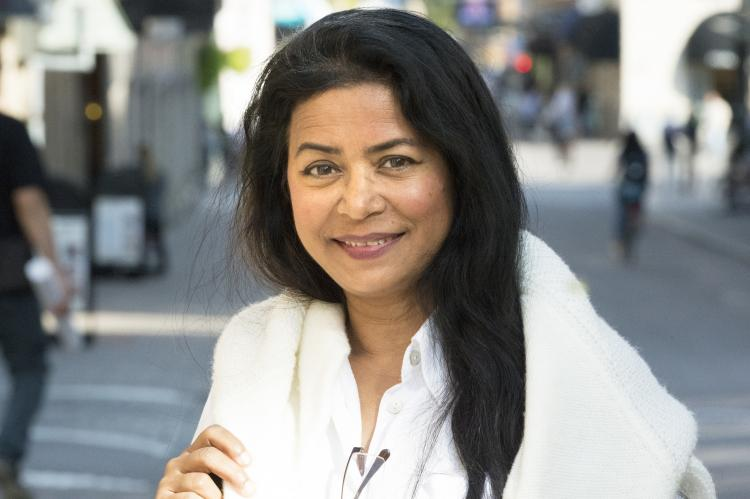 Writer, filmmaker and activist Jahanara Nuri, ICORN residency in Linköping 2018-2020. Photo.