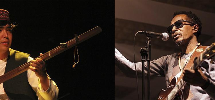 Hamid Sakhizada and Abazar Hamid, ICORN musicians in Harstad. Photo.